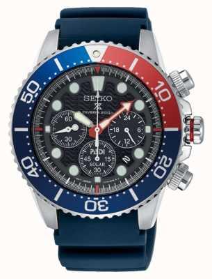 Seiko Heren prospex zonne-energie chronograaf horloge blauwe band SSC663P1