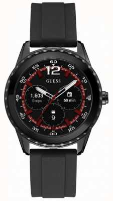 Guess Verbind unisex 44 mm android wear zwart rubberen horloge C1002M1
