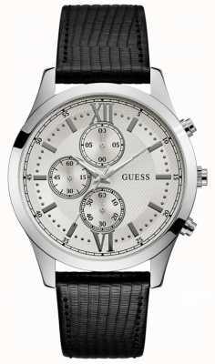 Guess Hudson herenjurk chronograaf zilver rond W0876G4