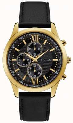 Guess Hudson herenjurk chronograaf gouden ronde W0876G5