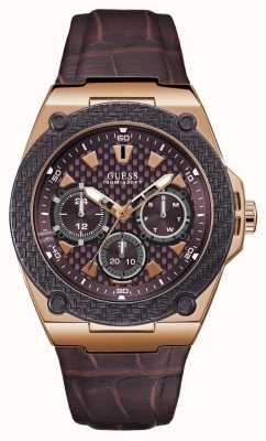Guess Legacy mens sport multi rose goud rond W1058G2