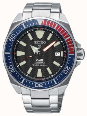 Seiko Heren roestvrijstalen padi prospex automatische horloge zwarte wijzerplaat SRPB99K1