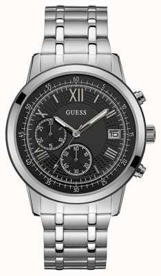 Guess Summit herenjurk chronograaf zilver rond W1001G4