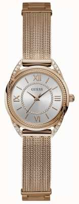 Guess Whisper damesjurk analoog rose goud rond W1084L3