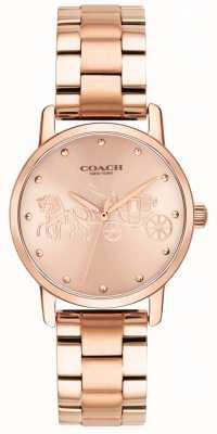 Coach Grote goudkleurige dameshorloge en horloge voor vrouwen 14502977