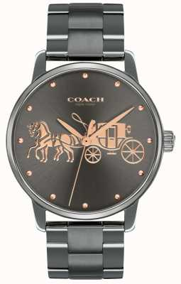 Coach Grote zwarte ip-plated case & armband rosegoudprint voor dames 14502924