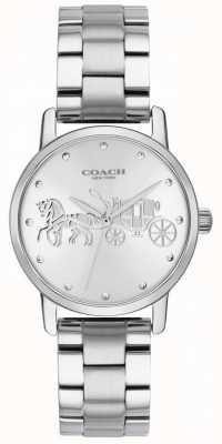 Coach Grote zwarte dameshorloge & armband zilver roestvrij staal 14502975