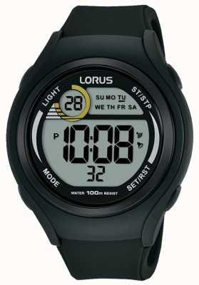 Lorus Unisex lorus rubberen digitale sporthorloge zwart R2373LX9