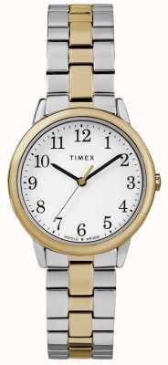 Timex Gemakkelijk lezer dames 30 mm roestvrij stalen horloge TW2R58800