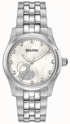 Bulova Klassiek hart van damesroestvrij staal 96P182