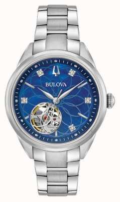 Bulova Diamant roestvrijstalen dames automatisch 96P191