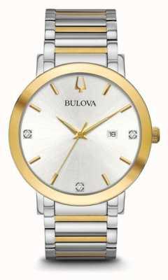 Bulova Heren tweekleurige armband 98D151