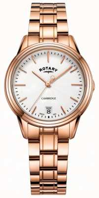 Rotary Womens cambridge horloge rose goudkleurige armband LB05262/06