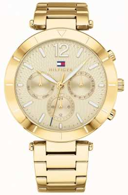 Tommy Hilfiger Womens chloe horloge dag datum goudkleurige armband 1781878