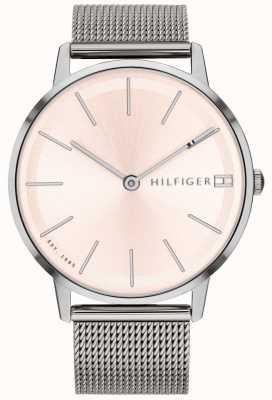 Tommy Hilfiger Womens pippa horloge zilverkleurige mesh band 1781935