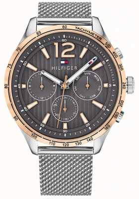 Tommy Hilfiger Heren gavin chronograaf horloge zilverstalen mesh armband 1791466