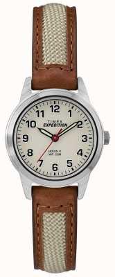 Timex Mini-leren natuurschoentoonplaat Field TW4B11900