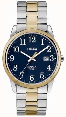 Timex Heren 38mm expeditieband tweekleurige roestvrijstalen armband TW2R58500