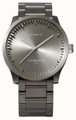 Leff Amsterdam Tube watch s42 stalen kast stalen armband LT72101