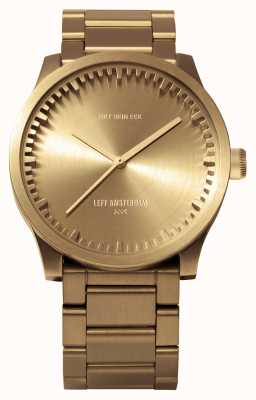 Leff Amsterdam Tube watch s38 brasscase messing armband LT71103