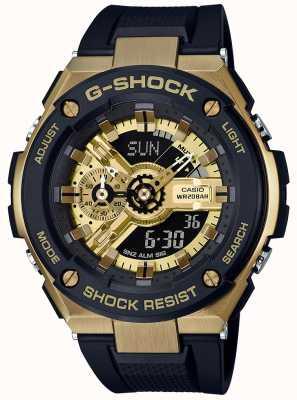 Casio G-shock g-staal zwart en goud GST-400G-1A9ER