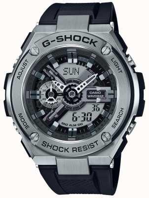 Casio G-shock g-staal zwarte kunststofriem GST-410-1AER