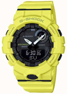 Casio G-shock bluetooth fitness step-tracker gele riem GBA-800-9AER