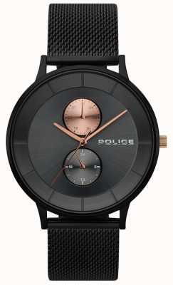 Police Heren berkeley zwart mesh horloge 15402JSB/61MM
