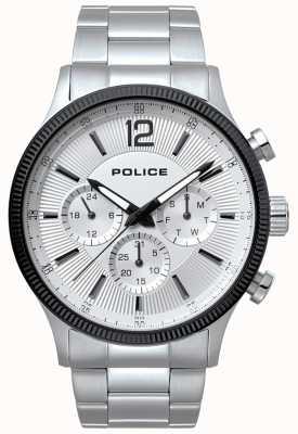 Police Heren wild roestvrij staal en zwart horloge 15302JSTB/01M