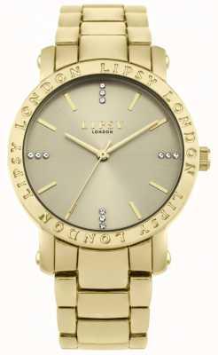 Lipsy Gouden wijzerplaat van vrouwen, gouden armbandhorloge LP566