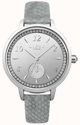 Lipsy Horloge met zilveren wijzerplaat in grijze wijzerplaat LP581