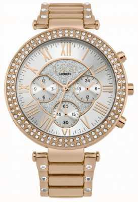 Lipsy Dames roségoud stenen chronograaf horloge LP580