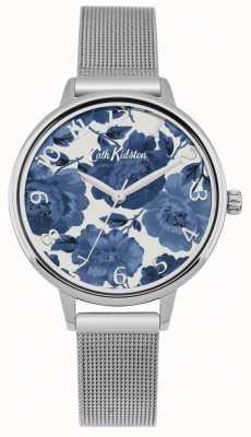 Cath Kidston Dames zilver mesh horlogekast CKL051SM