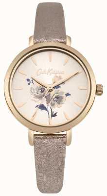Cath Kidston Womens eilandtros metallic rose gouden bandhorloge CKL049RG