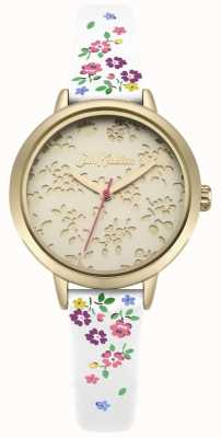 Cath Kidston Womens laser cut highgate ditsy witte band horloge CKL055WG