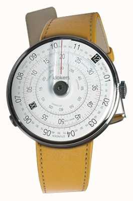 Klokers Klok 01 zwart horloge hoofd nieuwpoort geel enkele riem KLOK-01-D2+KLINK-01-MC7.1