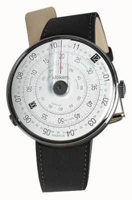 Klokers Klok 01 zwart horloge hoofdmat zwart dubbele riem KLOK-01-D2+KLINK-02-380C2