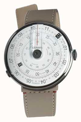 Klokers Klok 01 zwart horloge hoofd grege zeestraat enkele riem KLOK-01-D2+KLINK-04-LC9
