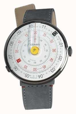 Klokers Klok 01 gele horlogekast grijze alcantara zeestraat enkele riem KLOK-01-D1+KLINK-04-LC11