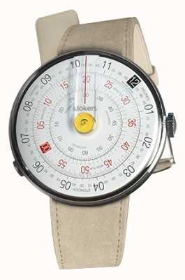 Klokers Klok 01 gele horlogekast grijze alcantara enkele riem KLOK-01-D1+KLINK-01-MC6