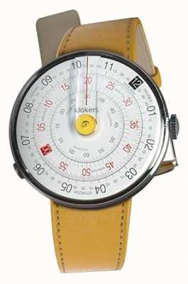 Klokers Klok 01 gele horloge hoofd nieuwpoort gele enkele riem KLOK-01-D1+KLINK-01-MC7.1
