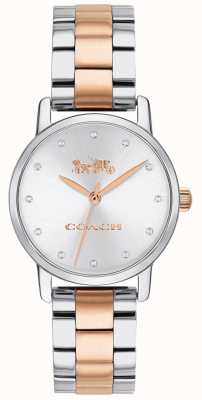 Coach Grand women's two tone rose gouden en zilveren armband 14503005