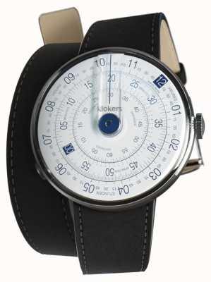 Klokers Klok 01 blauw horloge hoofdmat zwart 420mm dubbele band KLOK-01-D4.1+KLINK-02-420C2