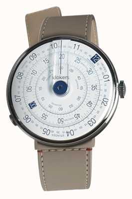 Klokers Klok 01 blauw horloge hoofd grege zeestraat enkele riem KLOK-01-D4.1+KLINK-04-LC9
