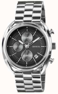 Breil Beaubourg roestvrij stalen chronograaf zwarte wijzerplaat armband TW1514