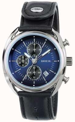 Breil Beaubourg roestvrij stalen chronograaf blauwe wijzerplaat zwarte band TW1528