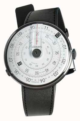 Klokers Klok 01 zwart horloge hoofd zwart satijn enkele riem KLOK-01-D2+KLINK-01-MC1