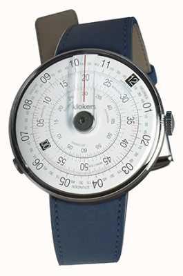 Klokers Klok 01 zwarte horlogeband indigo blauwe enkele riem KLOK-01-D2+KLINK-01-MC3