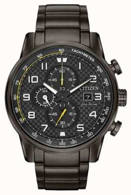 Citizen Heren sport chronograaf grijze ip vergulde armband CA0687-58E