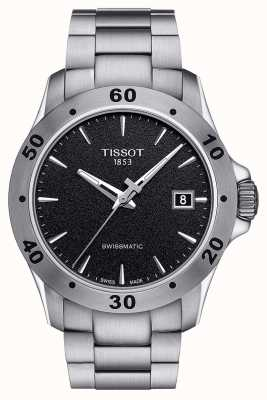 Tissot Heren v8 swissmatic zwarte wijzerplaat roestvrij stalen armband T1064071105100